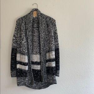 Gap Grey/Black/White Textured Cardigan